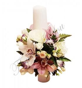 Lumanari botez orhidee roz trandafiri
