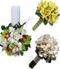Pachete nunta lumanari scurte orhidee