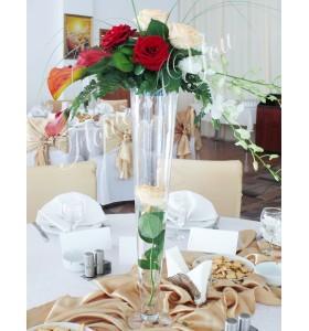 Aranjament floral nunta cale trandafiri dendrobium