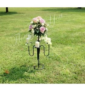 Aranjament floral nunta dendrobium trandafiri lisiantus