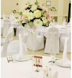 Aranjament floral nunta trandafiri gerbera crizantema