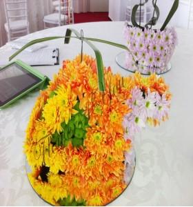 Aranjament floral botez elicopter