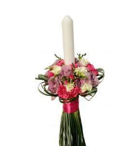 Lumanari botez trandafiri frezii belgras