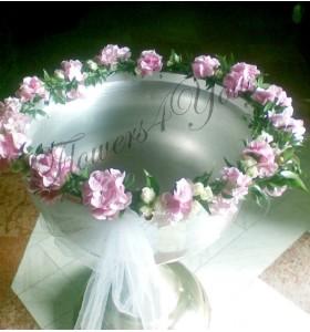 Cristelnita botez hortensia roz miniroza