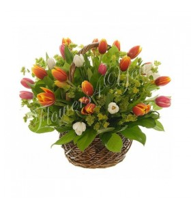 Aranjament floral cos lalele