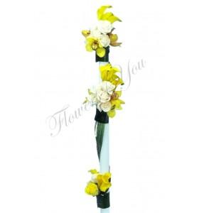 Lumanari nunta cale trandafiri orhidee