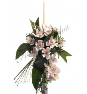 Lumanari nunta orhidee alba